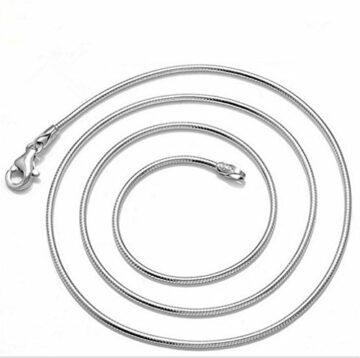 EXKLUSIV Damen-Kette Schmuck 925 Sterling Silber Halskette Ohne Anhänger