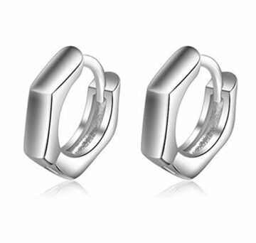 EXKLUSIV Damen Creolen Ohrringe Polieren Ohrringe Schmuck aus 925 Sterling Silber