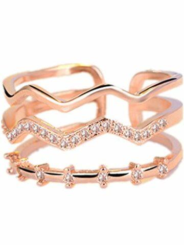 EXKLUSIV Damen Schmuck 925 Sterling Silber Diamant Verstellbar Partnerringe Ring Eheringe Trauringe Verlobung Ringe
