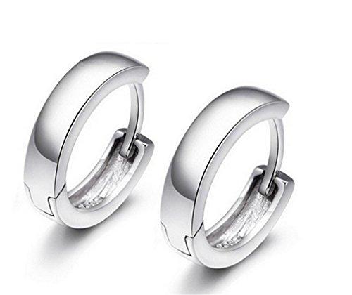 EXKLUSIV Creolen Ohrringe Polierte Hypoallergen 925 Sterling Silber Ohrschmuck für Mädchen Kinder Damen