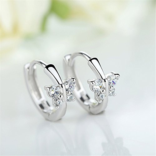 EXKLUSIV Damen Ohrschmuck Creolen Verschiedene Stile Ohrringe 925 Sterling Silber Geschenk für Mädchen Kinder (1)
