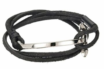 EXKLUSIV Lederarmband Armbänder einfache Legierung Armband beliebt Schmuck für Männer und Frauen