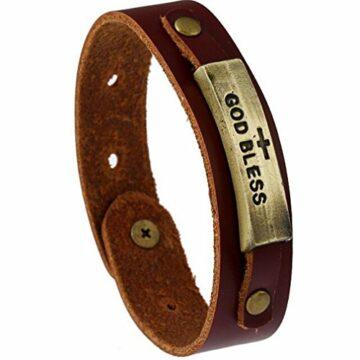 EXKLUSIV Retro-Bronze-Legierung Armband handgemachte Lederarmband Hand Schmuck für Männer und Fraue
