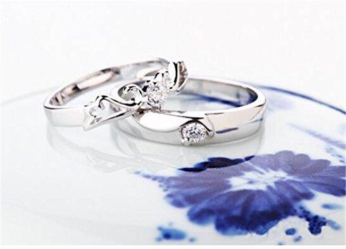 Exklusiv Damen Herren Ring Ein Paar Blumen Bijou Ringe